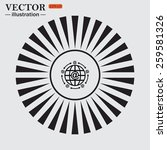 circle. the sun. rays. black... | Shutterstock .eps vector #259581326