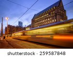 metro tram passing in front of... | Shutterstock . vector #259587848
