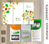 white spring brochure template... | Shutterstock .eps vector #259594976
