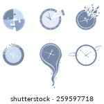 Lost Time Icon Set. Set Of...