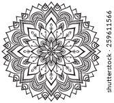 mandala. ethnic decorative... | Shutterstock .eps vector #259611566
