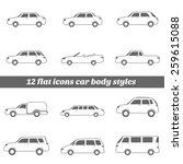 cars icons set   illustration | Shutterstock .eps vector #259615088