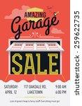 creative vector garage or yard... | Shutterstock .eps vector #259622735