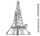 oil rig vector logo design...   Shutterstock .eps vector #259626968
