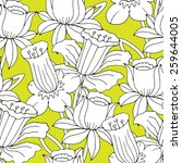 vector seamless pattern with... | Shutterstock .eps vector #259644005