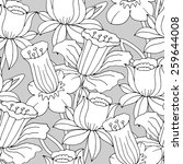 vector seamless pattern with... | Shutterstock .eps vector #259644008