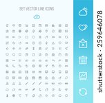 universal outline icons for web ... | Shutterstock .eps vector #259646078