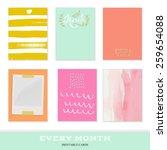 set of 6 creative journaling... | Shutterstock .eps vector #259654088
