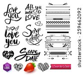 set of love messages like love... | Shutterstock .eps vector #259662092