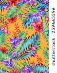 Seamless Colorful Tropical...