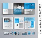 classic brochure template... | Shutterstock .eps vector #259667426