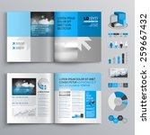 classic brochure template... | Shutterstock .eps vector #259667432