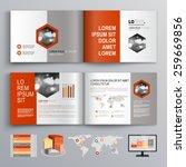 classic white brochure template ... | Shutterstock .eps vector #259669856