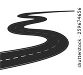 winding road vector... | Shutterstock .eps vector #259674656