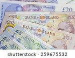Mixed Uk Money Notes Background