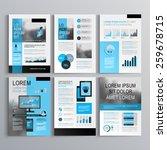 classic brochure template... | Shutterstock .eps vector #259678715
