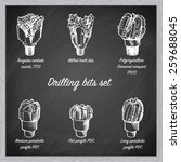 different types of drill bits... | Shutterstock .eps vector #259688045
