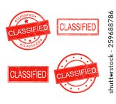 set of rubber stamp with word... | Shutterstock .eps vector #259688786