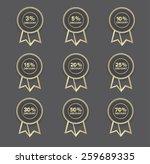 a set of hollow golden discount ... | Shutterstock .eps vector #259689335