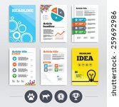 brochure design and a4 flyers.... | Shutterstock .eps vector #259692986