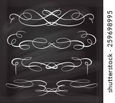 calligraphic design elements... | Shutterstock .eps vector #259698995