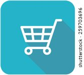 shopping cart icon  flat design ...