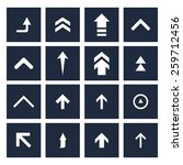 upload arrow icon set... | Shutterstock .eps vector #259712456
