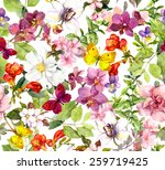 Vintage Flowers And Butterflies....
