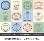 delivery emblems commercial... | Shutterstock .eps vector #259734752