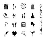 celebration icons black set... | Shutterstock .eps vector #259736276