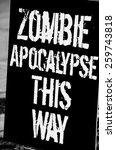 zombie apocalypse | Shutterstock . vector #259743818