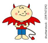 devil boy in red | Shutterstock .eps vector #259747292
