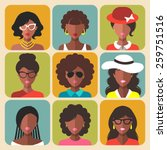 vector set of different african ...