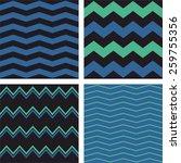 zig zag chevron vector pattern... | Shutterstock .eps vector #259755356