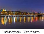 Panorama Of Warsaw At Night...