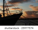 The Silhouette Of A Boat
