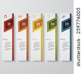 design clean number banners... | Shutterstock .eps vector #259776005