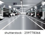 underground parking with cars.... | Shutterstock .eps vector #259778366