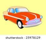 styled old car | Shutterstock .eps vector #25978129