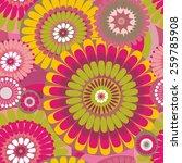 seamless pattern of decorative... | Shutterstock .eps vector #259785908