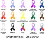 various awareness ribbons and... | Shutterstock .eps vector #2598040