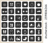 health and fitness icons... | Shutterstock .eps vector #259806266