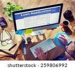 loan application bank finance... | Shutterstock . vector #259806992