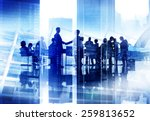 silhouette business people... | Shutterstock . vector #259813652
