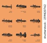 set of 9 city   buffalo  fort... | Shutterstock .eps vector #259820762