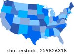 usa map | Shutterstock .eps vector #259826318