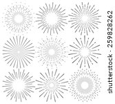 vector set of nine graphic... | Shutterstock .eps vector #259828262