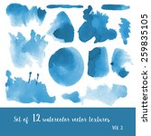 set of watercolor strokes and... | Shutterstock .eps vector #259835105
