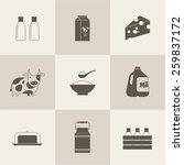 vector milk icon | Shutterstock .eps vector #259837172