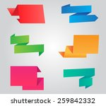 colorful origami  banners set... | Shutterstock .eps vector #259842332